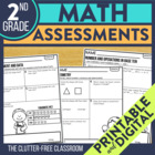 2nd Grade Common Core Math Assessment Packet {Data Noteboo