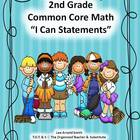 "2nd Grade Common Core Math ""I Can Statements."""