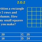 2nd Grade Common Core Math Partition a Rectangle Into Rows