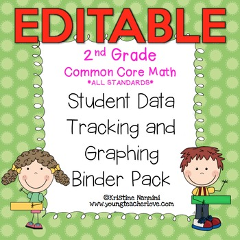 2nd Grade Common Core Math Student Data Tracking Binder Pa