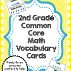 2nd Grade Common Core Math Vocabulary Card Set