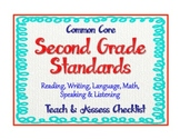 "2nd Grade Common Core Standards - ELA and Math ""Teach and"