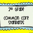 2nd Grade Common Core Standards Posters