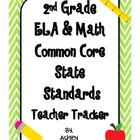 2nd Grade Common Core State Standards Teacher Tracker