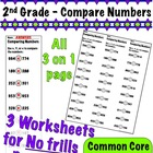 2nd Grade Compare Numbers - Common Core 2.NBT.4