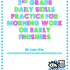 2nd Grade Daily Skills Practice for Morning Work or Early