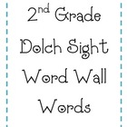 2nd Grade Dolch Words