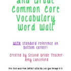 2nd Grade ELA and Math Vocabulary Word Wall