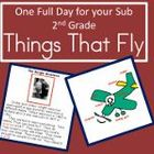 2nd Grade Full Day Emergency Substitute Teacher Plans/Thin