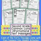 2nd Grade Informational Text Passages: Close Reading/ CCSS