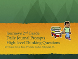 2nd Grade Journeys Daily Writing Prompts- Unit 1