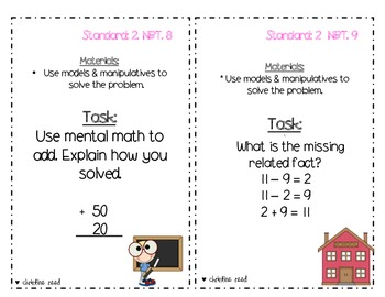 2nd Grade Math Common Core Assessment Pack