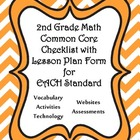 2nd Grade Math Common Core Checklist - Lesson Planning For