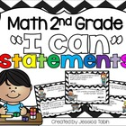 2nd Grade Math Common Core I Can Statements with Robots