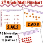 2nd Grade Math Flipchart - Common Core 2.AO.2 , 2.OA.3, &amp; 2.OA.4