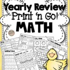 2nd Grade Math Print N' Go Test Prep & Yearly Review Mega Packet