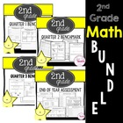 2nd Grade Math Yearly Assessment Bundle
