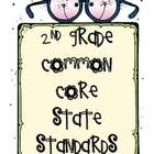 2nd Grade Math and Reading Common Core Standards with expl