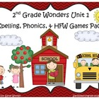 Wonders 2nd Grade Unit 1 Spelling & Phonics Games (RF.2.3,