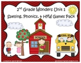 Wonders McGraw Hill 2nd Grade Unit 1 Spelling & Phonics Ga