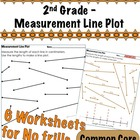 2nd Grade - Measurement Line Plot - Common Core 2.MD.9