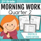 2nd Grade Morning Work for Common Core- Set 2 (Second Quar