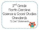 "2nd Grade NC Science and Social Studies ""I Can"" Statements"