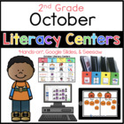 2nd Grade October Literacy Center Menu