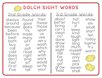 2nd Grade Popcorn Word-Wall Words