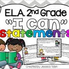 2nd Grade Reading Common Core I Can Statements with Robots