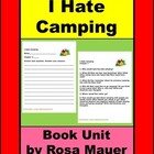 "2nd Grade Reading Comprehension Worksheets ""I Hate Camping"""