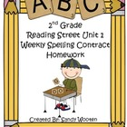 2nd Grade Reading Street  Differentiated Spelling Homework