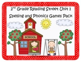 Reading Street 2nd Grade Unit 1 Spelling & Phonics Games P