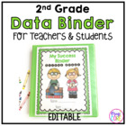 2nd Grade Student & Teacher Data Success Binder-common cor