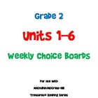 2nd Grade Treasures Choice Boards - Unit 1-6