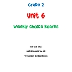 2nd Grade Treasures Unit 6 Choice Boards