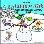 2nd Grade Winter Math Centers and Learning Game