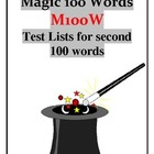 2nd Magic 100 Words -M100W- Practice Test Sheets