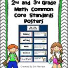 2nd and 3rd Grade Common Core Math Standards Posters