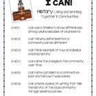 "2nd grade Social Studies ""I CAN"" Statements (Michigan GLCEs)"