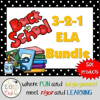 3-2-1 Back to School ELA Bundle