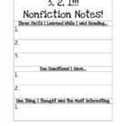 3-2-1 Nonfiction Notes
