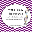 3 Bookmarks for the 37 Most Common Rimes/Word Families