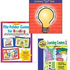 3 CENTERS AND FILE FOLDER BOOKS WITH REPRODUCIBLES AND PUL