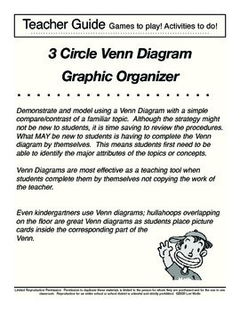 3 Circle Venn Diagram Graphic Organizer and Lesson Plan