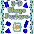 3 D Shape Posters Freebie