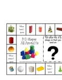 3-D Shapes Around Us Game board