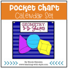 3-D Shapes Everywhere - Pocket Chart Calendar Set