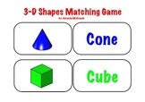 3-D Shapes Matching Game