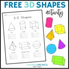 3-D Shapes facts worksheet